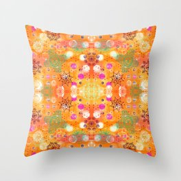 Flying Mandalas Throw Pillow