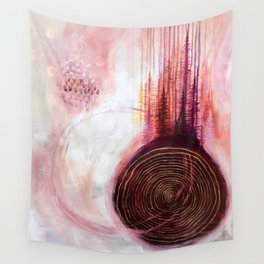 Pineal Blush Song #2 Original Acrylic Painting by Rachael Rice Wall Tapestry