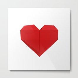 Origami Heart Metal Print