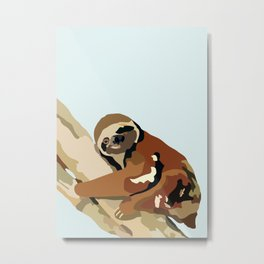 Tree Sloth Metal Print