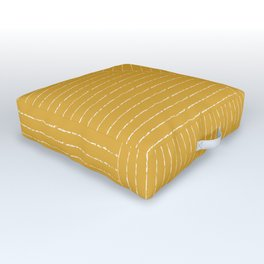 Lines (Mustard Yellow) Outdoor Floor Cushion