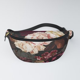 Vintage & Shabby Chic - Midnight Rose and Peony Garden Fanny Pack