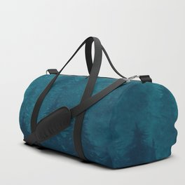 Misty Pine Forest Duffle Bag