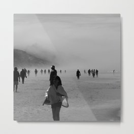 Disappear Into the Fog Metal Print