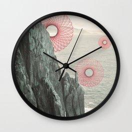 Spirograph Neahkahnie Headland Spires Wall Clock