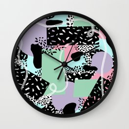 Bed of Black Speckles Wall Clock