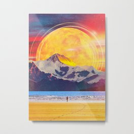 The Mountain At The Shore Metal Print