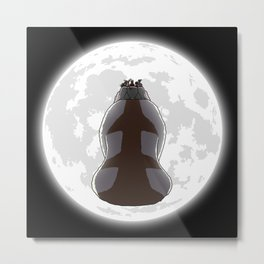 Yip Yip into the Moonlight Metal Print