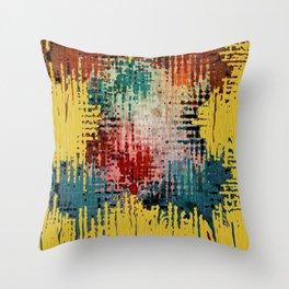 Paint Drips Throw Pillow