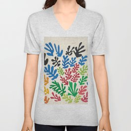 Leaf Cutouts by Henri Matisse (1953) Unisex V-Neck