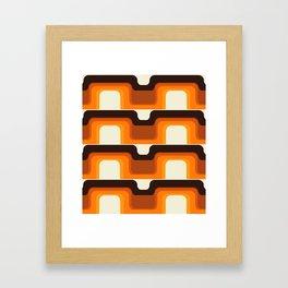Mid-Century Modern Meets 1970s Orange Framed Art Print