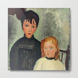 """Amedeo Modigliani """"Les deux filles"""" Metal Print"""