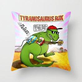 Jurassic Rock Throw Pillow