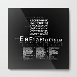 Helvetica Metal Print