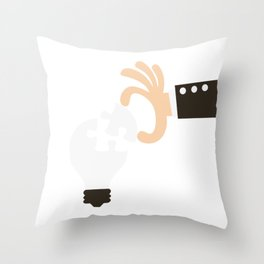 Putting The Finale Piece For A Bright Idea Throw Pillow