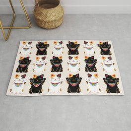Maneki Neko - Lucky Cats Rug
