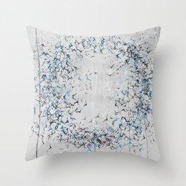 Karmic circle. Original bird theme design. Throw Pillow