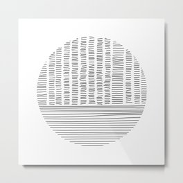 Digital Stitches detail 1 white Metal Print