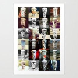 24 Coffee Cups Art Print