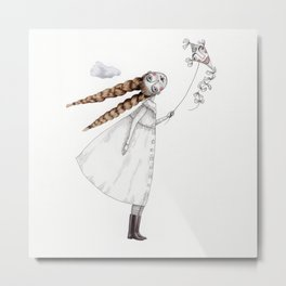 Picture Two:  The Kite Metal Print