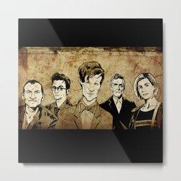 Doctor Who - Nine, Ten, Eleven, Twelve, and Thirteen Metal Print