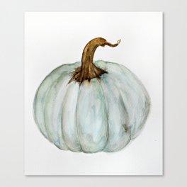 Blue-Gray Cinderella Pumpkin - Watercolor  Canvas Print