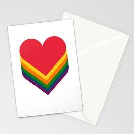 Heart rainbow Stationery Cards