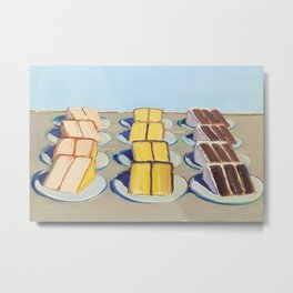 Classical Masterpiece Cake Rows, 1920 Metal Print