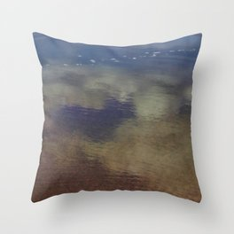 Clouds in the Sand at Widemouth Bay Throw Pillow