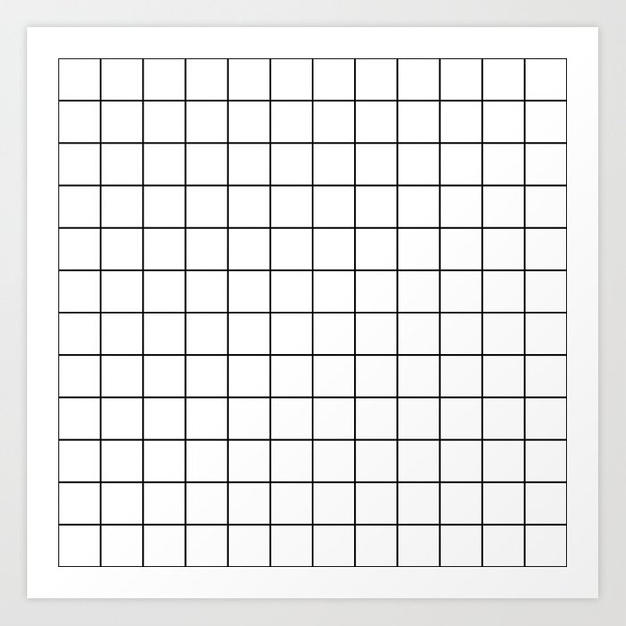 Grid Pattern Stripes Lines Black and White Minimalist Geometric Stripe Line Kunstdrucke