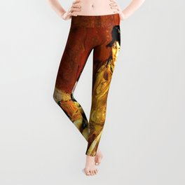 Woman and Little Girl of Constantine with a Gazelle - Digital Remastered Edition Leggings