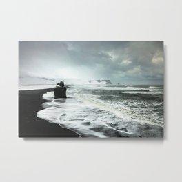 Black Sand beaches in Iceland Metal Print