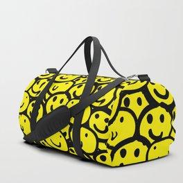 Smiley Face Yellow Duffle Bag