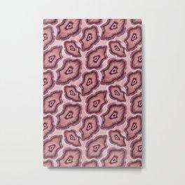 Pink Agate Slices Metal Print
