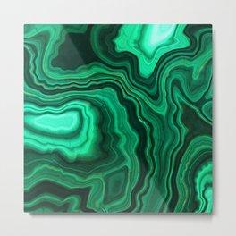 Emerald Marble Metal Print