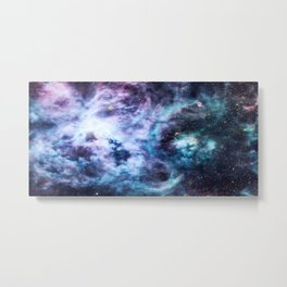 Tarantula Nebula Lavender Blue Dream Metal Print