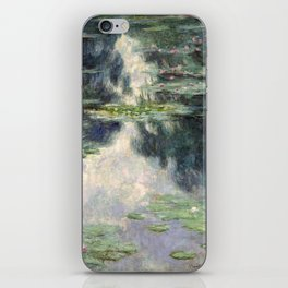 Pond with Water Lilies by Claude Monet, 1907 iPhone Skin