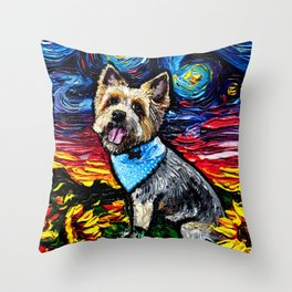 Silky Terrier Night Throw Pillow