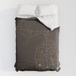 Michigan Highways Comforters