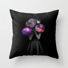 space balloons Throw Pillow