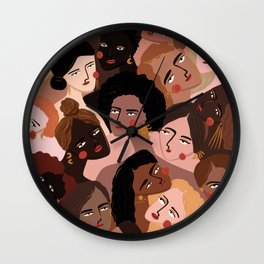 We are the sun, the moon and the stars Wall Clock