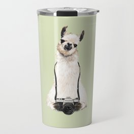 Llama the Photographer Travel Mug