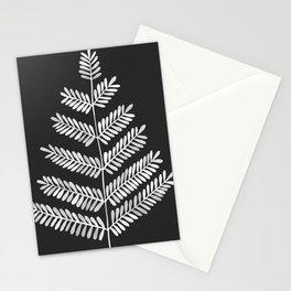 White Leaflets Stationery Cards