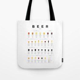 Beer chart - Ales Tote Bag