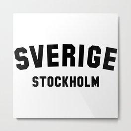 STOCKHOLM Metal Print
