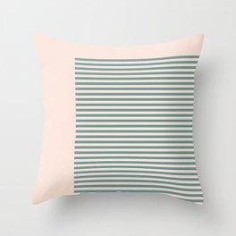 Pale Stripes Throw Pillow