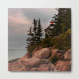 Acadia National Park Bass Harbor Head Lighthouse Maine Print Metal Print