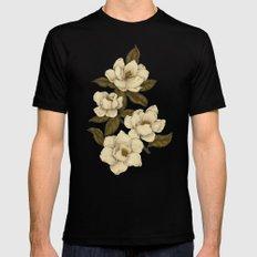 Magnolias Black MEDIUM Mens Fitted Tee