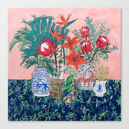 The Domesticated Jungle - Floral Still Life Leinwanddruck