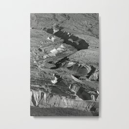 Valleys of Ash Metal Print
